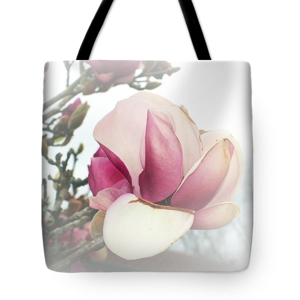 Tote Bag featuring the photograph Soft Pink Flower by Ellen O'Reilly
