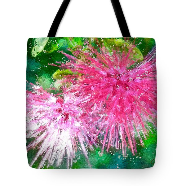 Soft Pink Flower Tote Bag