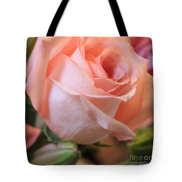 Soft Pink Rose Tote Bag by Carol Groenen