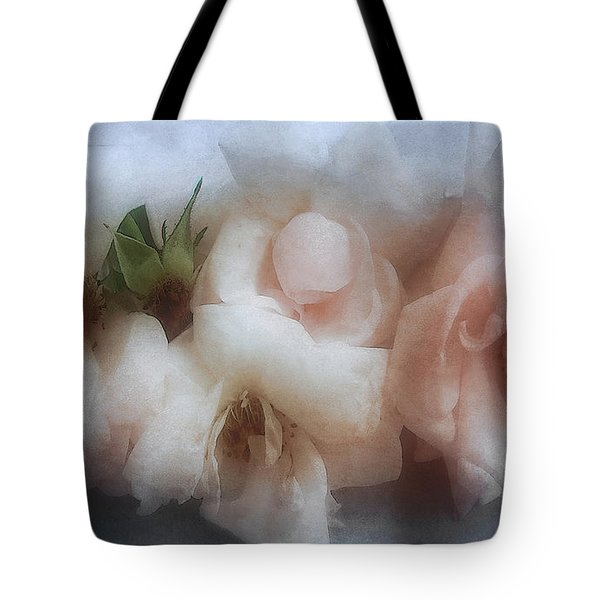 Soft Pink Roses Tote Bag by Louise Kumpf
