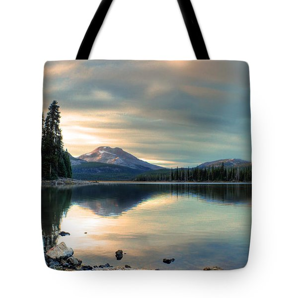 Soft Pink Sky Over Sparks Lake Tote Bag