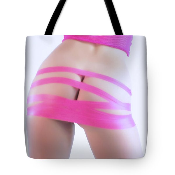 Soft Pink Tape Tote Bag