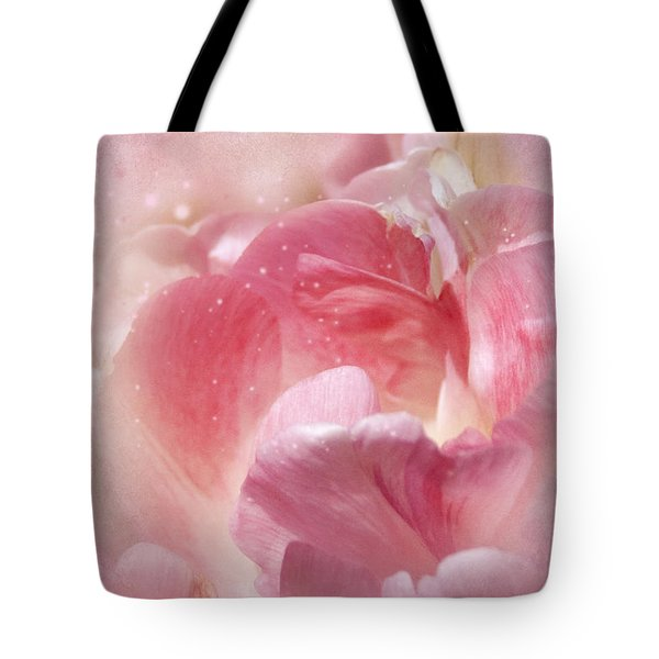 Soft Pink Tulips Tote Bag