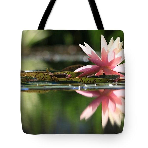 Soft Pink Water Lily Tote Bag