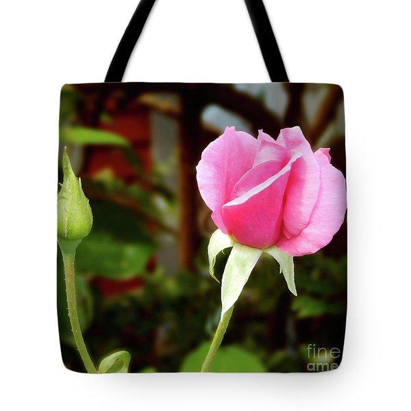 Soft Pink Wild Rose Tote Bag