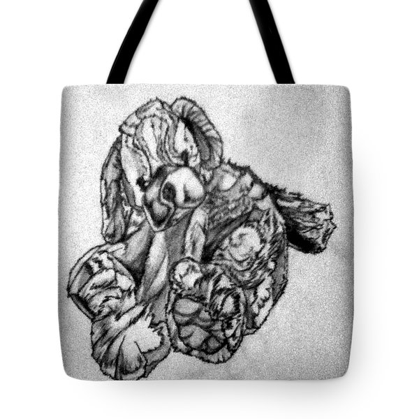 Tote Bag featuring the drawing Soft Puppy Sketch by Jayvon Thomas