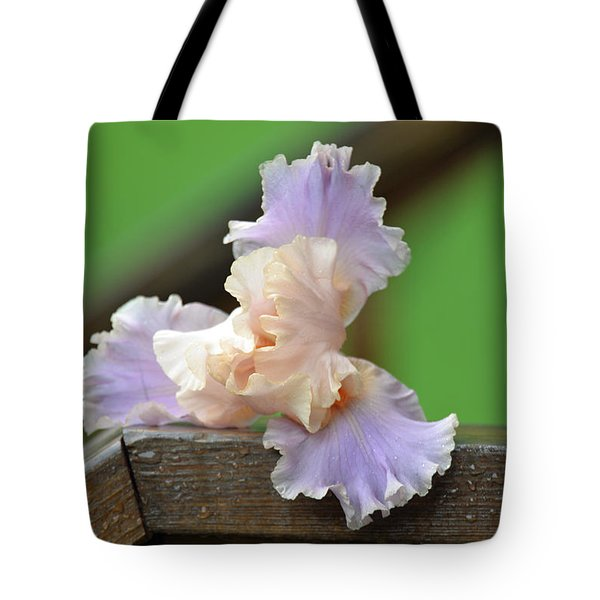 Soft Purple Iris Tote Bag