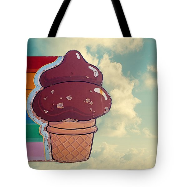 Soft Serve - Ice Cream Cone Art Tote Bag
