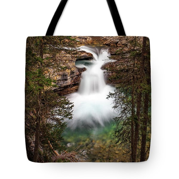 Tote Bag featuring the photograph Soft Smooth Waterfall by Darcy Michaelchuk