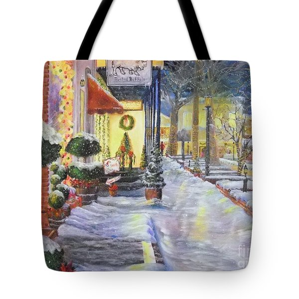 Soft Snowfall In Dahlonega Georgia An Old Fashioned Christmas Tote Bag