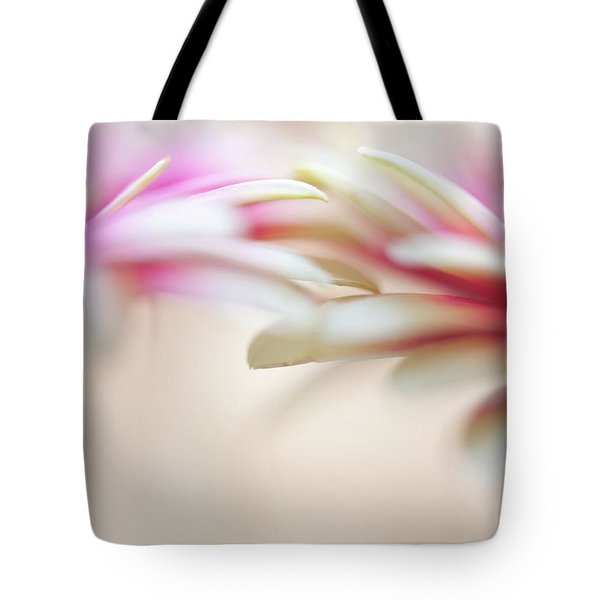 Tote Bag featuring the photograph Soft Touch. Macro Gerbera by Jenny Rainbow