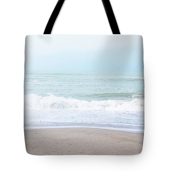 Tote Bag featuring the mixed media Soft Waves 2- Art By Linda Woods by Linda Woods
