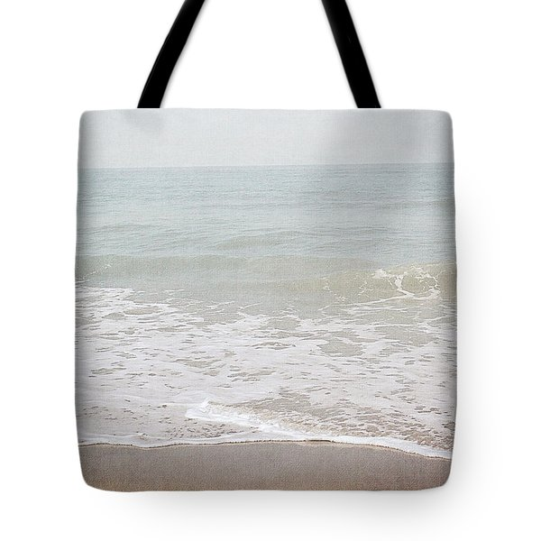 Tote Bag featuring the mixed media Soft Waves- Art By Linda Woods by Linda Woods