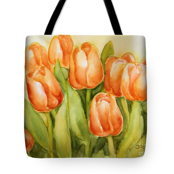 Soft Yellow Spring Tulips Tote Bag