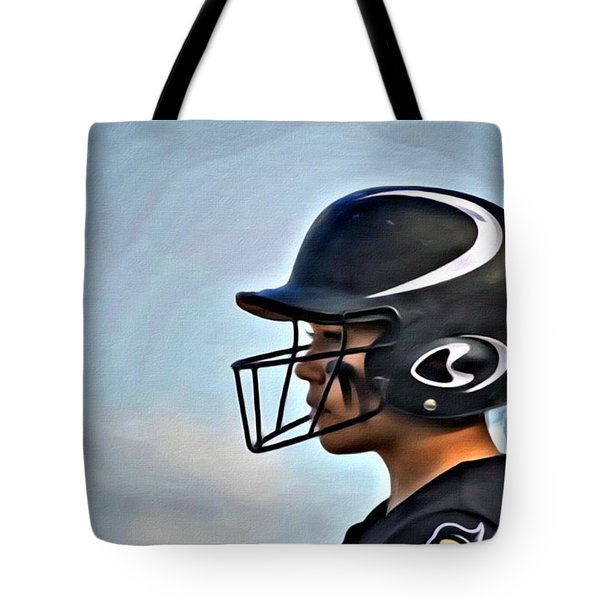 Softball Beauty Girl Tote Bag