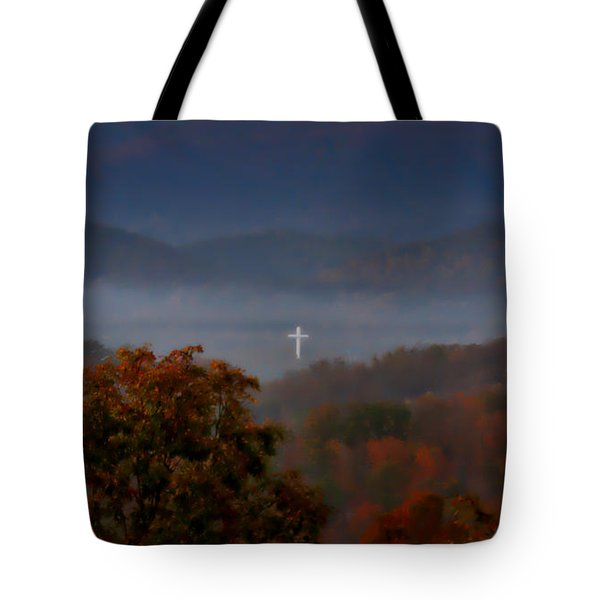 Softly And Tenderly Tote Bag
