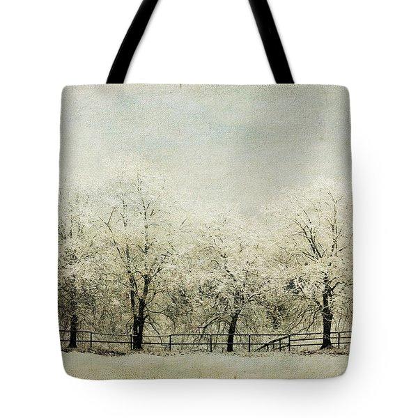 Softly Falling Snow Tote Bag