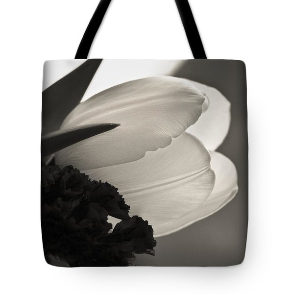 Lit Tulip Tote Bag by Marilyn Hunt