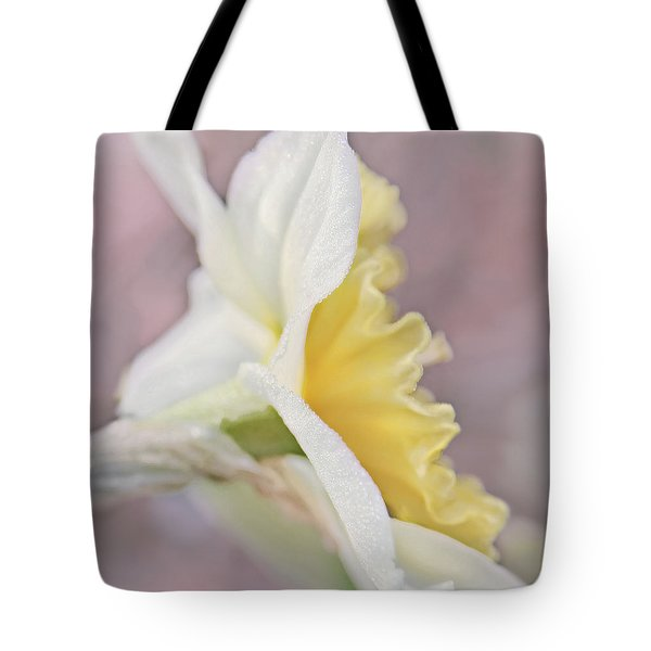 Tote Bag featuring the photograph Softness Of A Daffodil Flower by Jennie Marie Schell
