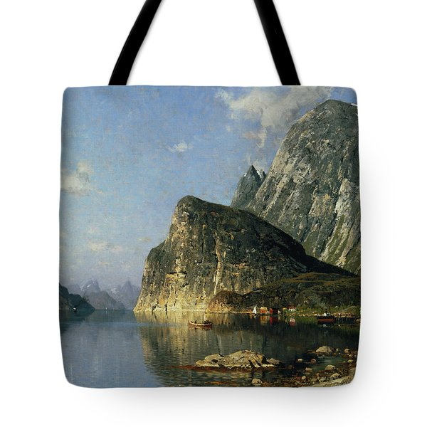 Sogne Fjord Norway  Tote Bag by Adelsteen Normann