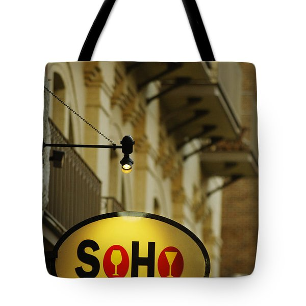 Soho Wine Bar Tote Bag by Jill Reger