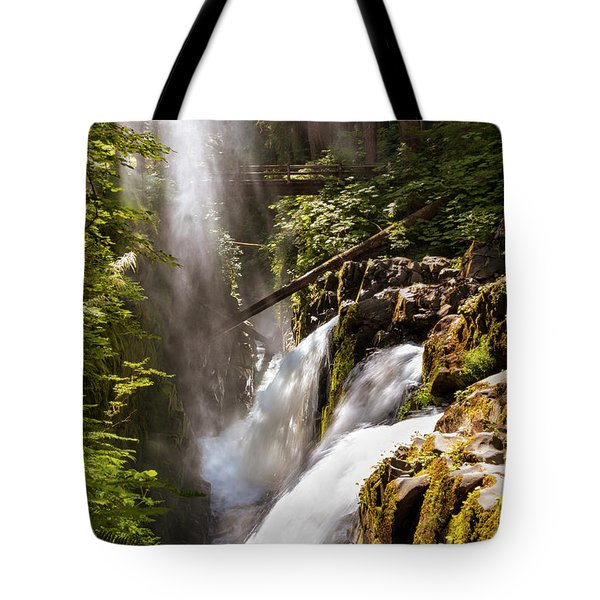 Tote Bag featuring the photograph Sol Duc Falls by Adam Romanowicz