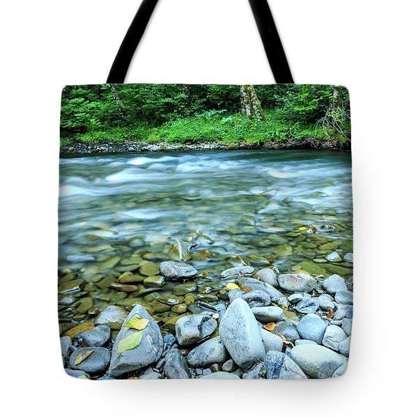 Sol Duc River In Summer Tote Bag
