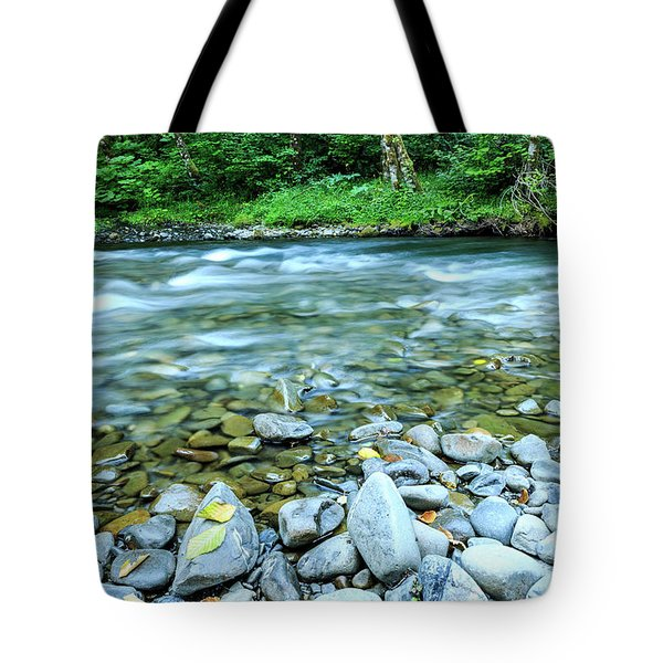 Sol Duc River In Summer Tote Bag