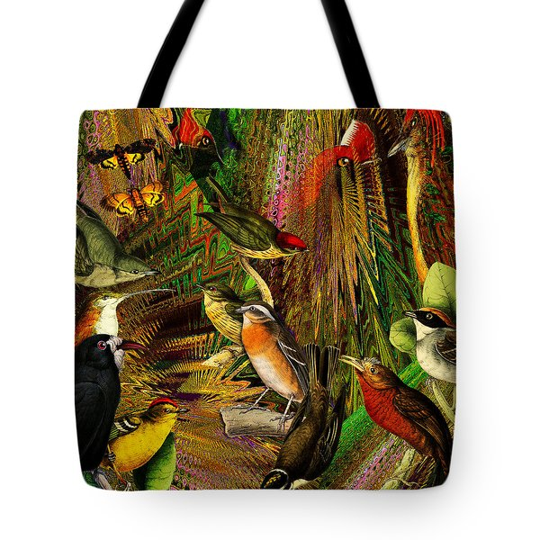 Solar Birds Of Paris Tote Bag