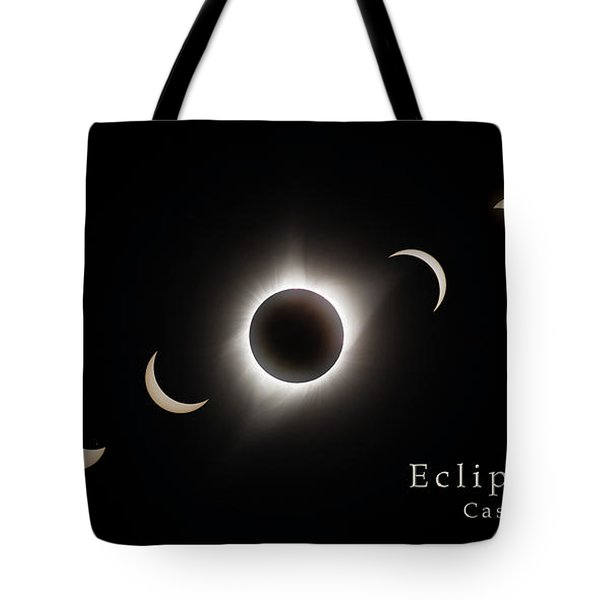 Tote Bag featuring the photograph Solar Eclipse Collage 3 by Rikk Flohr