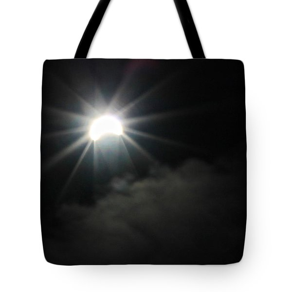 Solar Eclipse In The Clouds Tote Bag