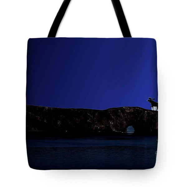 Solar Eclipse Over Perce Rock Tote Bag