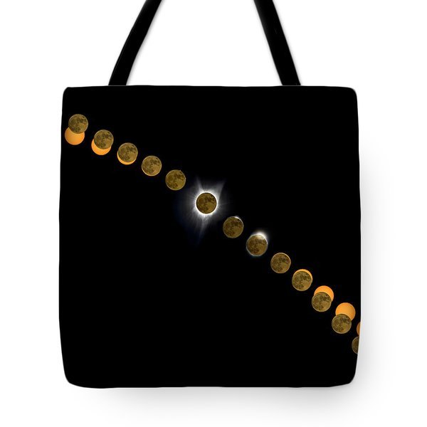 Solar Eclipse Stages 2017 Tote Bag