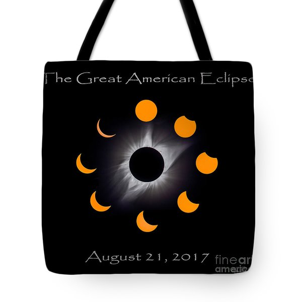 Solar Eclipse Stages Tote Bag