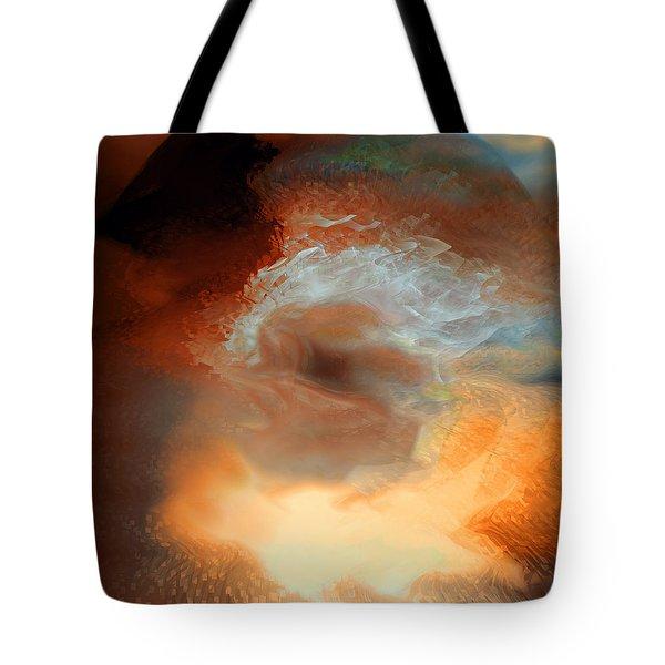 Solar Eruption Tote Bag by Linda Sannuti