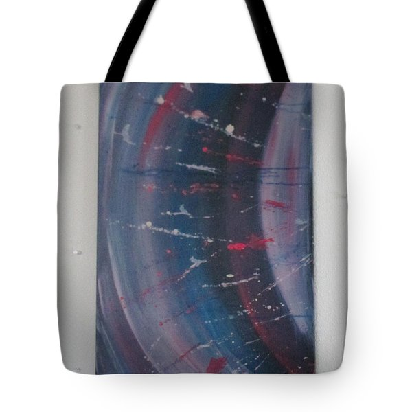 Tote Bag featuring the painting Solar Flare #1 by Sharyn Winters