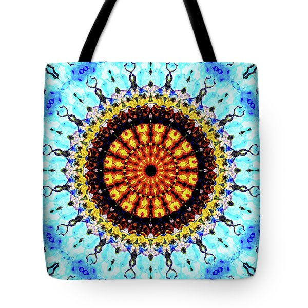 Tote Bag featuring the digital art Solar Flare 1 by Wendy J St Christopher