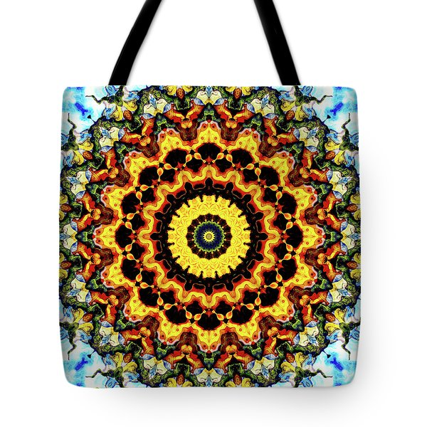 Tote Bag featuring the digital art Solar Flare 2 by Wendy J St Christopher