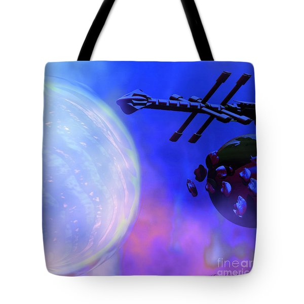 Solar Nexus Tote Bag by Corey Ford