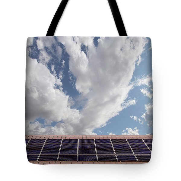Solar Panels On Roof Top Tote Bag by David Gn