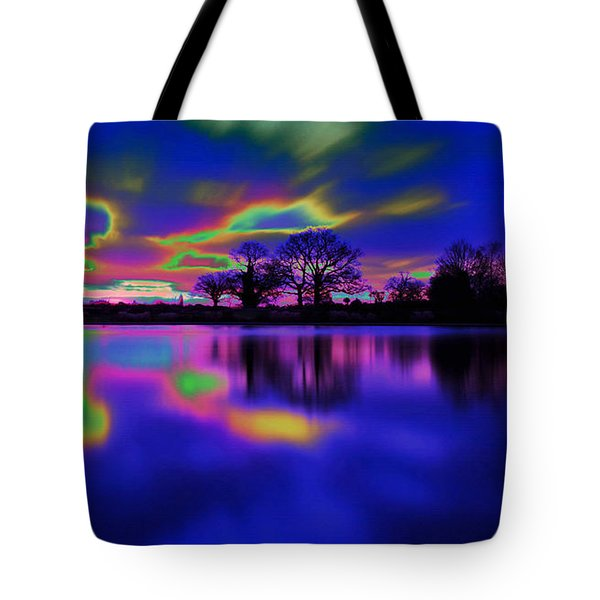 Solar Sunset Tote Bag