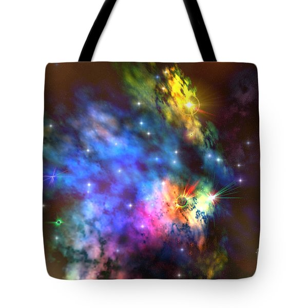 Solaris Nebula Tote Bag by Corey Ford