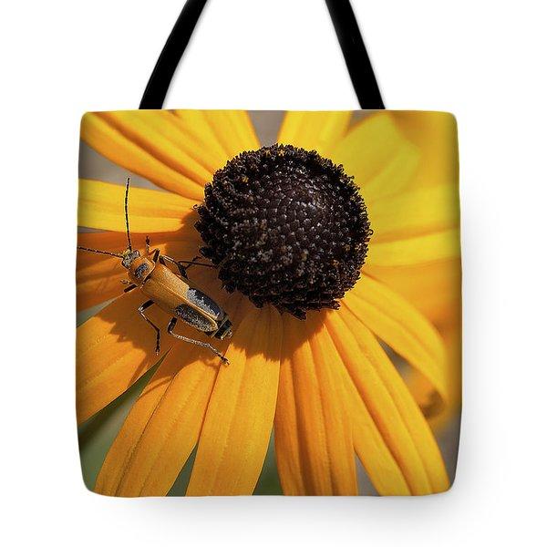 Soldier Beetle On His Flower Tote Bag