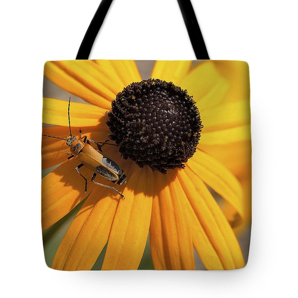 Soldier Beetle On His Flower Tote Bag