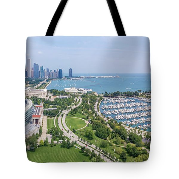 Soldier Field Panorama Tote Bag