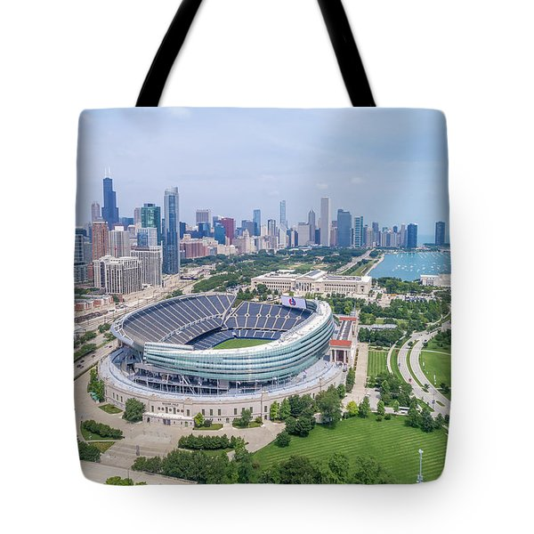 Tote Bag featuring the photograph Soldier Field by Sebastian Musial