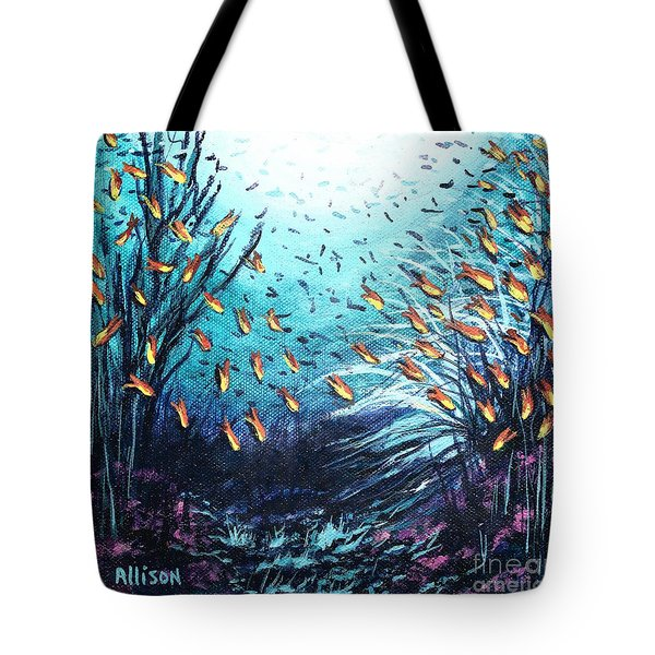 Soldier Fish And Coral  Tote Bag