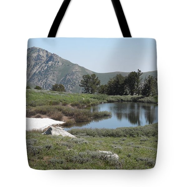 Soldier Lake And Peak Tote Bag by Jenessa Rahn