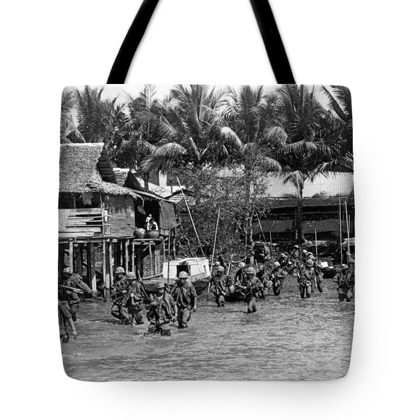 Soldiers In The Mekong Delta Tote Bag
