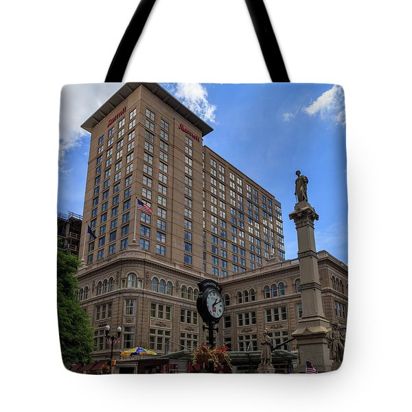 Soldiers Monument In Penn Square In Lancaster Tote Bag